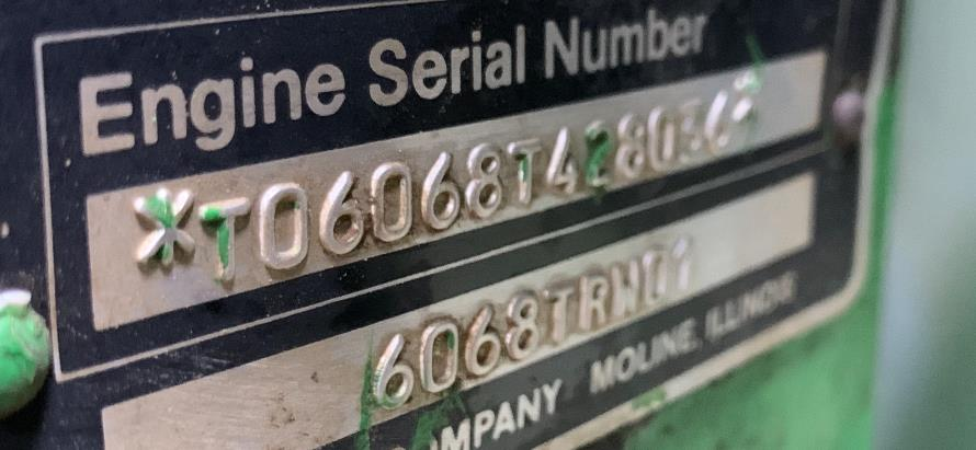 Diesel Engine serial number